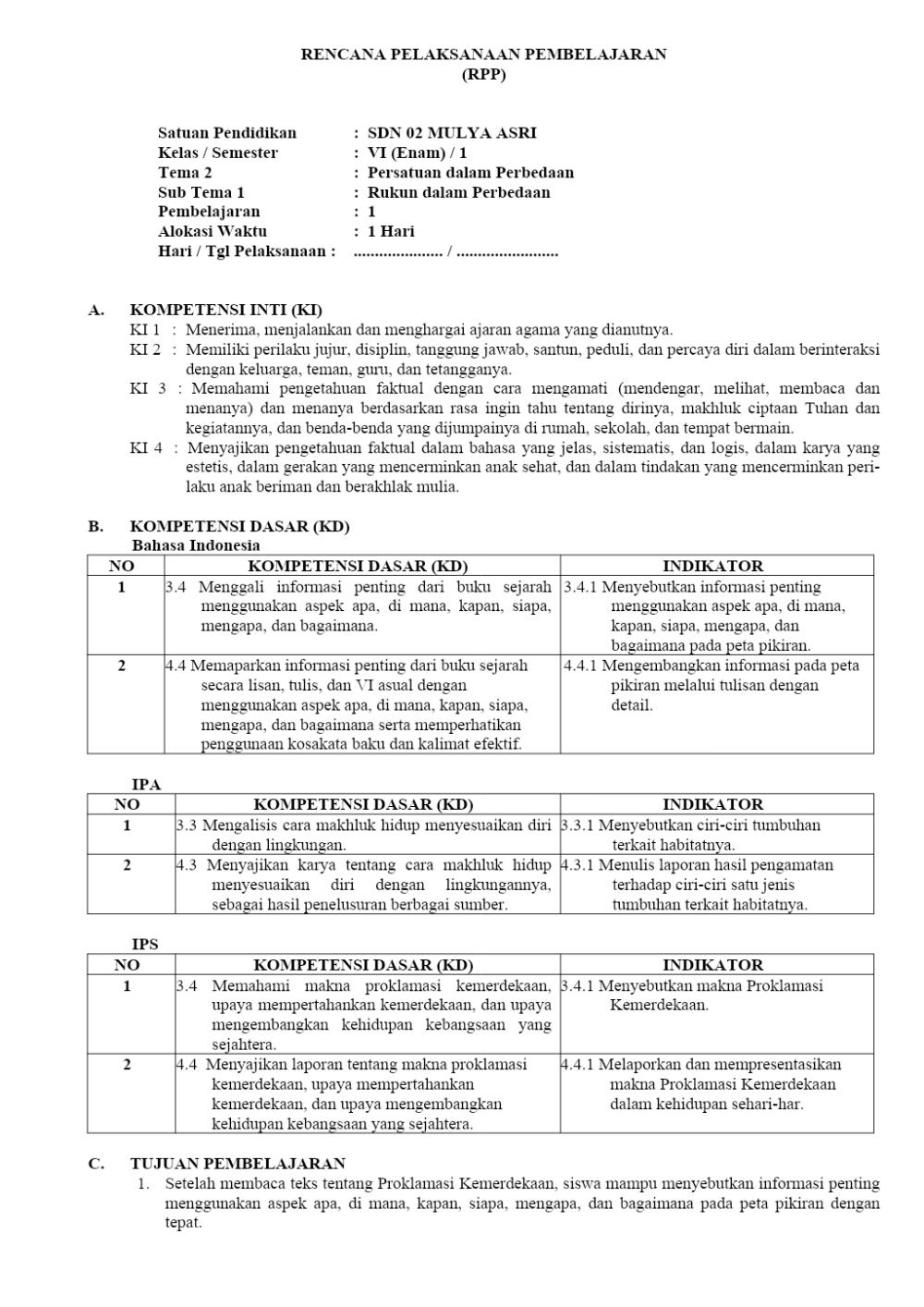 RPP TEMA 2 KELAS 6.docx Google Drive Belajar, Google