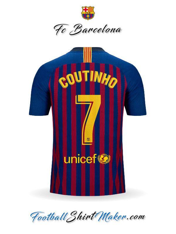 eaab77b992 Jersey FC Barcelona 2018 19 Coutinho 7