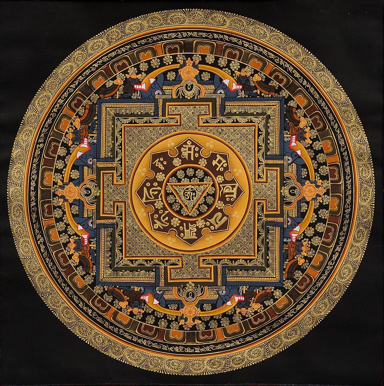 Hindu Mandala Mandalas Pinterest Syllable Mandala And Om