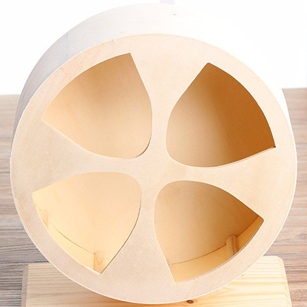 Ozzptuu Wooden Hamster Silent Exercise Running Wheels Small Animals Climbing House Pet Habitats Toys You Could Obtain Small Pets Exercise Wheel Animal House