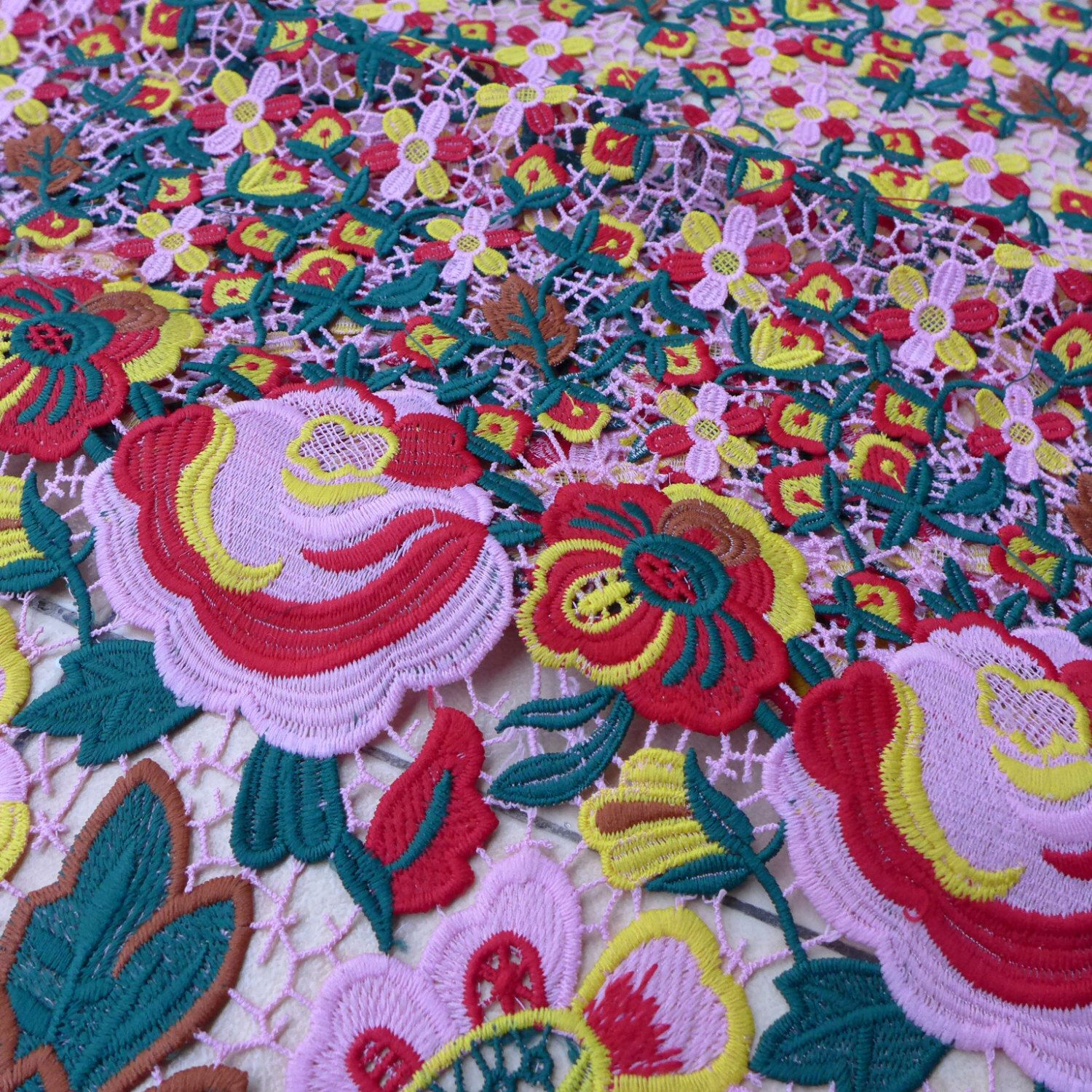 Spring flowers hight quality wedding dress fabric beautiful flowers ...