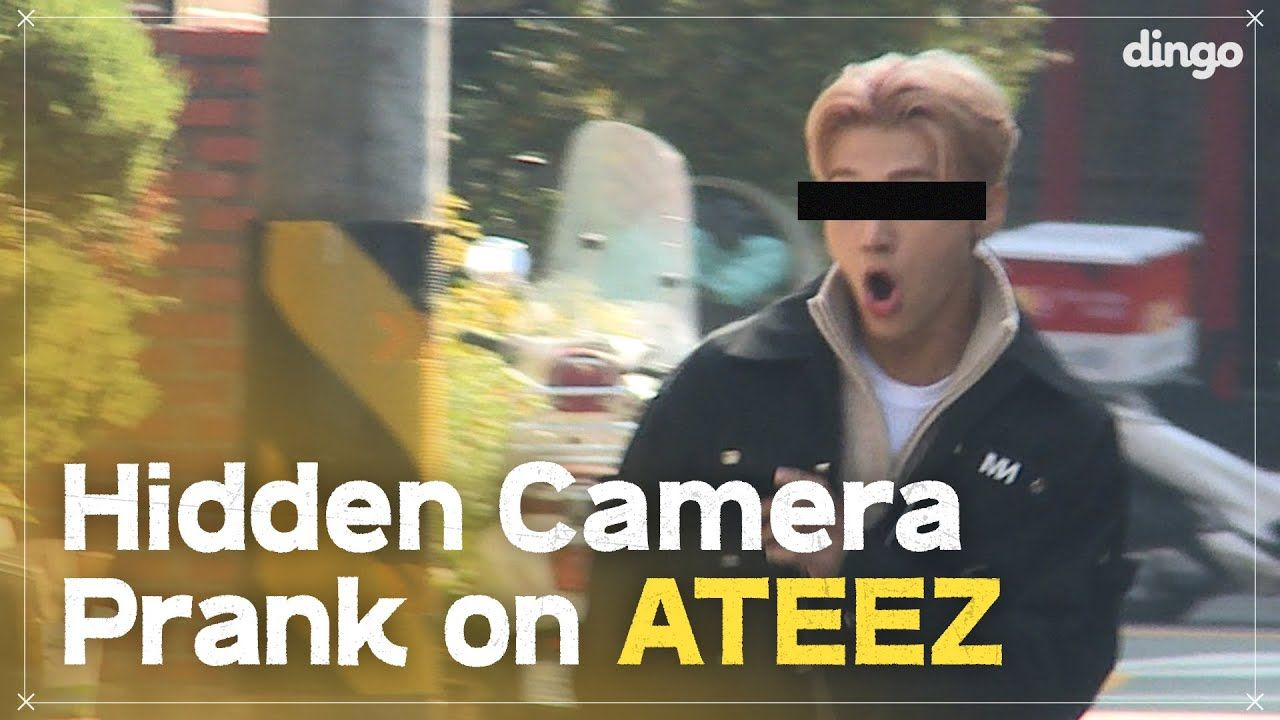 Hidden Camera Pranks On Kpop Idols Ft Ateez Eng Sub Dingo Kdrama Hidden Camera Real Life Love Stories Kdrama