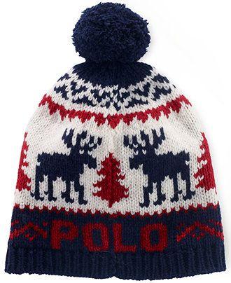 5afc67dc506 Polo Ralph Lauren Reindeer Wool Pom Cap - Hats