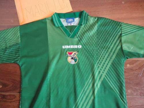 2cc6a9d99 Camisa Bolivia Umbro Verde Oficial 1993 1994 Etcheverry 90 - R  115 ...