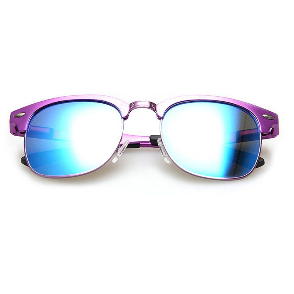 873fb953e7b Amazon.com  TAIMEI Flat matte Clubmaster Style Sunglasses Polarized Vintage  Style Design