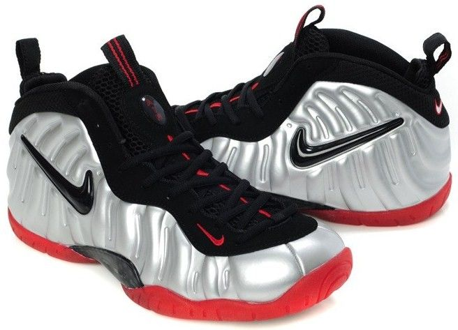 d2587493f5d Nike Air Foamposite Pro Silver Black Red