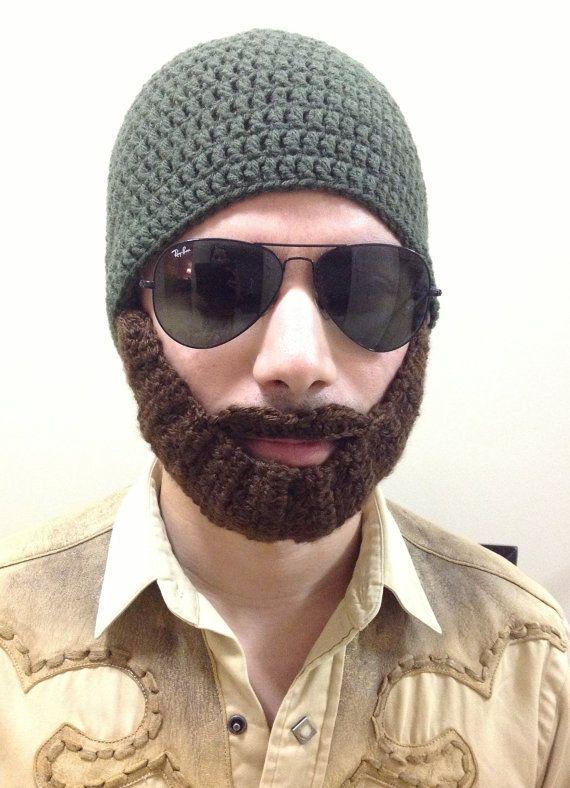 Crochet Beard Hat for men, women, kids, babies in All sizes, beard ...