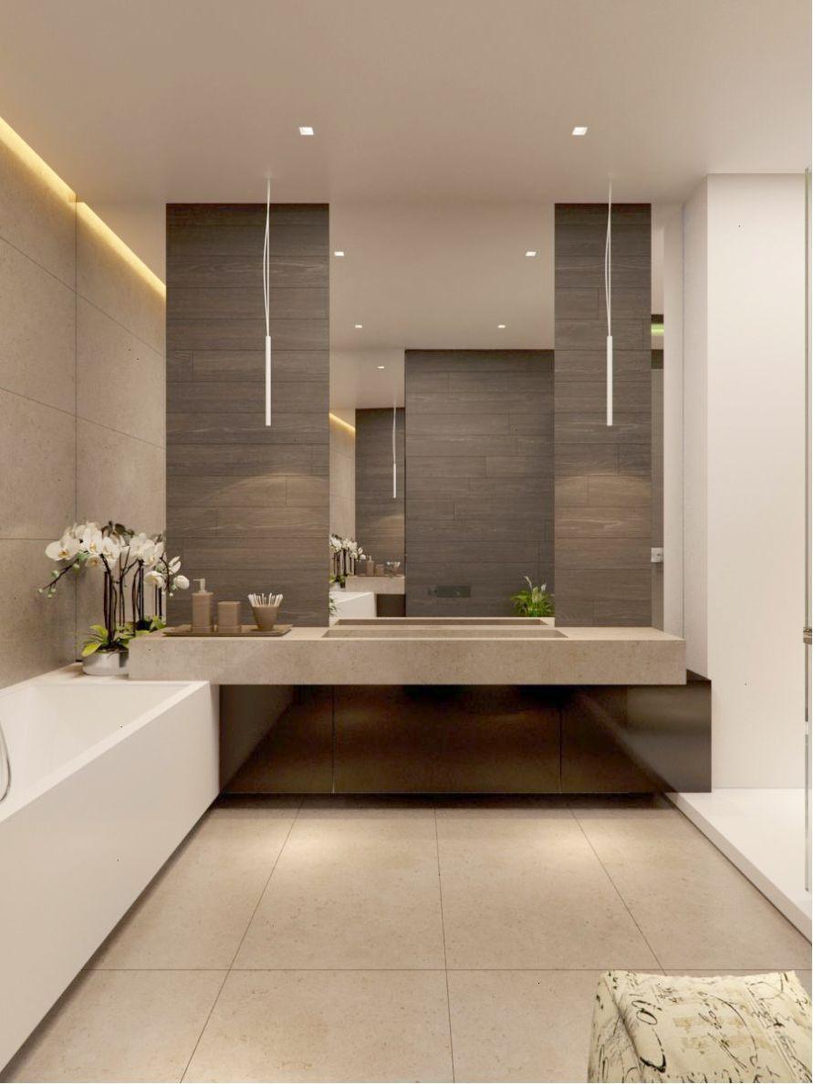 Floating Vanity In Master Ensuite Modern Bathroom Design Bathroom Interior Modern Bathroom