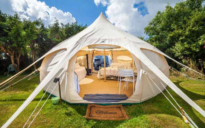 Upscale Bell Tents in North Cornwall | #Gl&ing #UK & Upscale Outdoors Accommodations Snuggled in North Cornwall ...