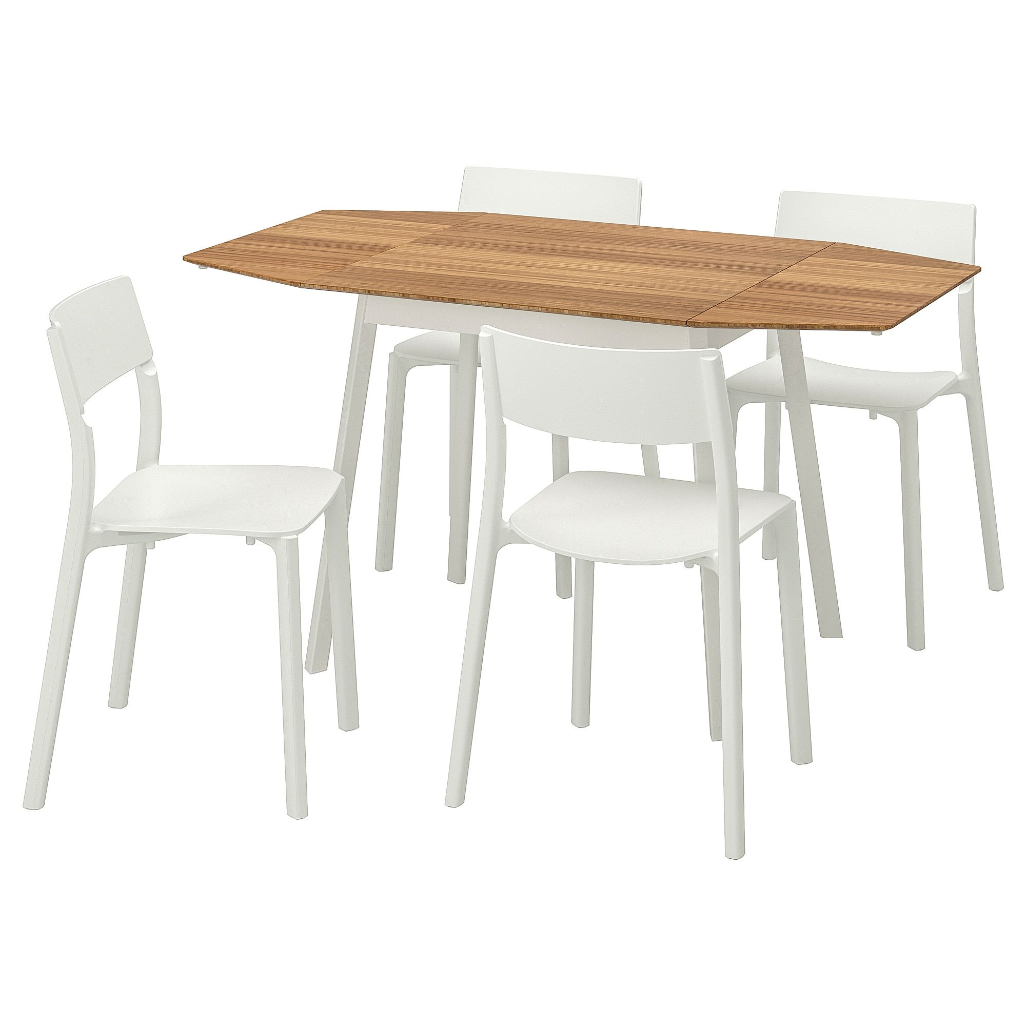 Ikea Ikea Ps 2012 Janinge Bamboo White Table And 4 Chairs In