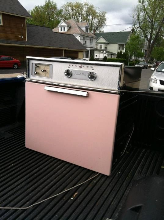 vintage pink wall oven 1950 s general by
