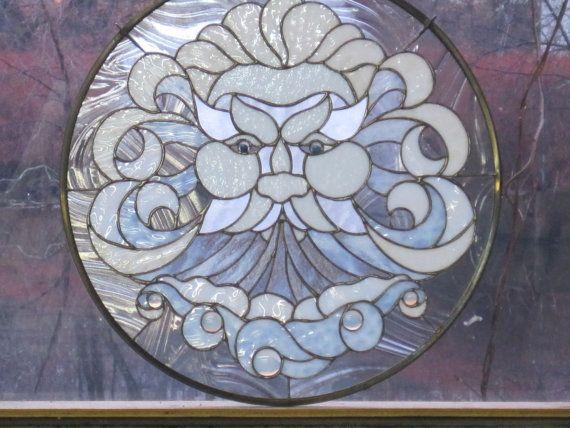 Vidrieras North Wind Panel por RenaissanceGlass en Etsy