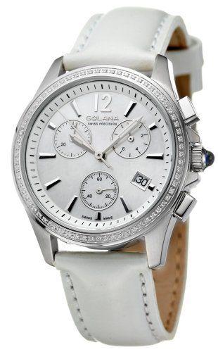 Golana Swiss Women S Au200 6 Aura Pro 200 Diamonds Quartz Chronograph Watch Golana Swiss 517 50 Sapphire Coated Cr Diamond Quartz Leather Band White Leather