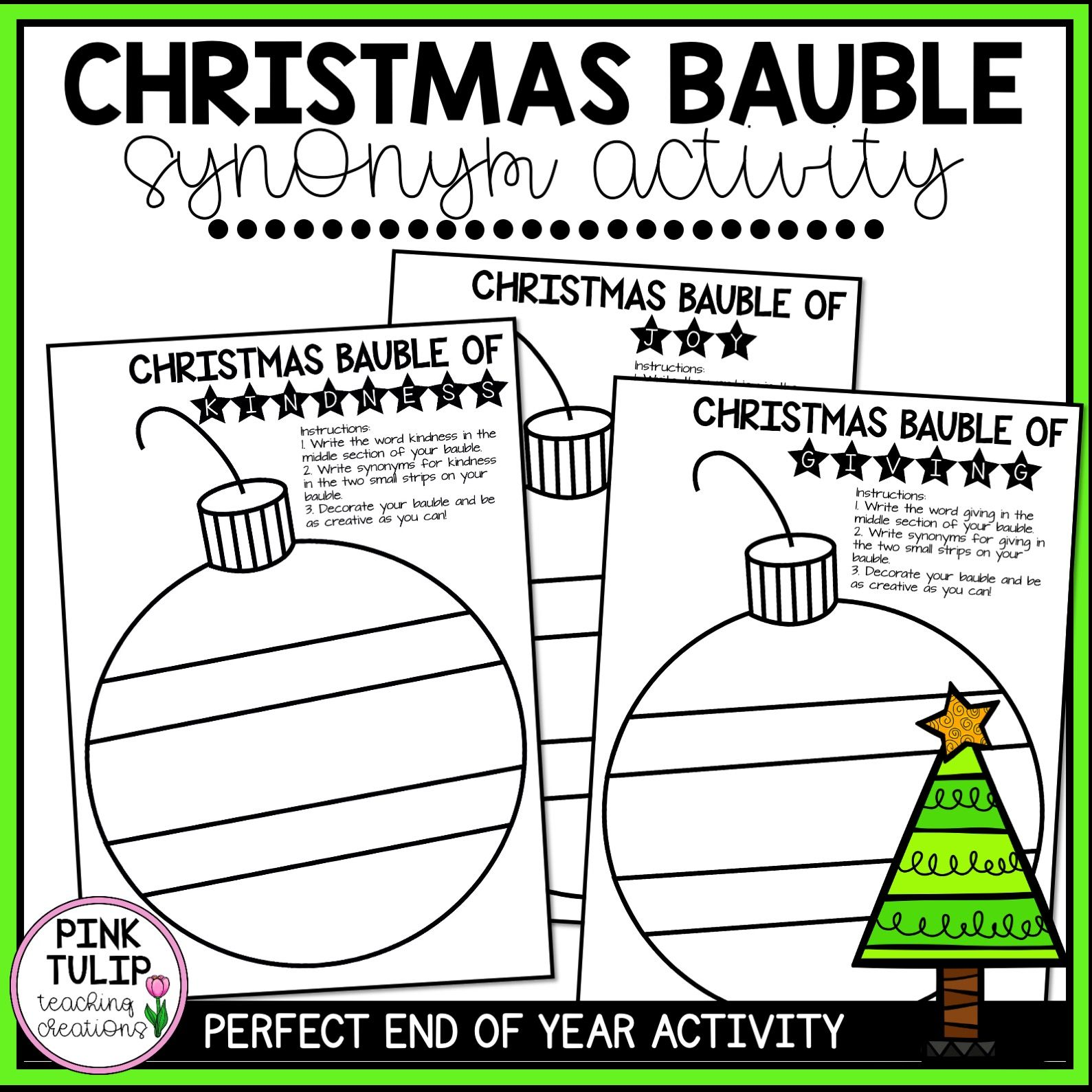 Christmas Synonyms Worksheet   Printable Worksheets and Activities for  Teachers [ 1589 x 1589 Pixel ]