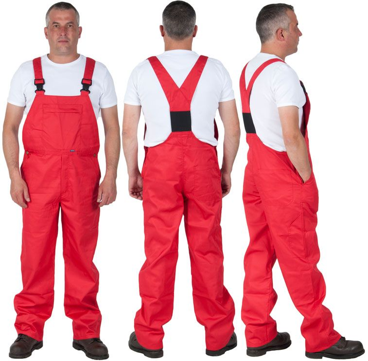 red work dungarees for men basic bib and brace 35 from on best insulated coveralls for men id=27713