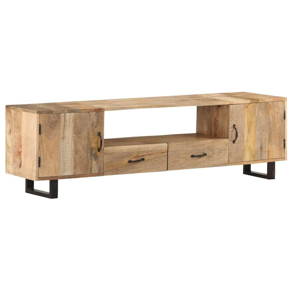 TV Cabinet 160x30x45 cm Solid Mango Wood