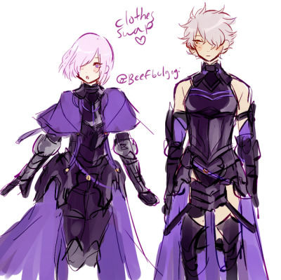 Outfit Swap! With Galahad and Mashu~! {FGO} | TYPE-MOON ...