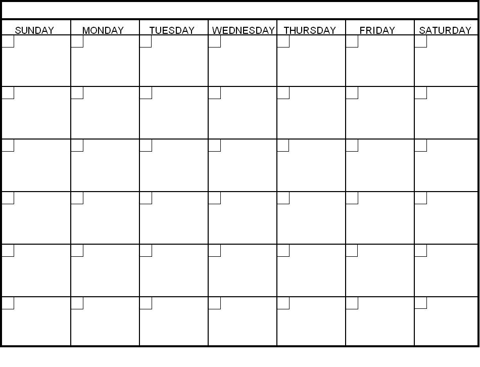 Printable Clalendar Templates  Office Spaces    Blank