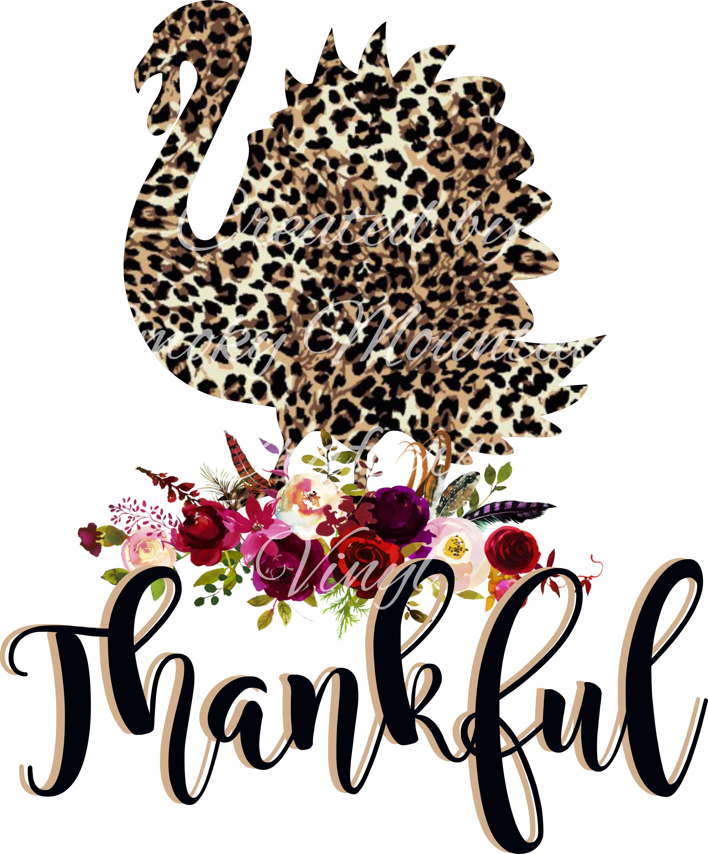 Leopard Print thankful turkey Thanksgiving pictures