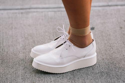 Boxfresh shoes + fishnet socks = your summer footwear game, sorted.