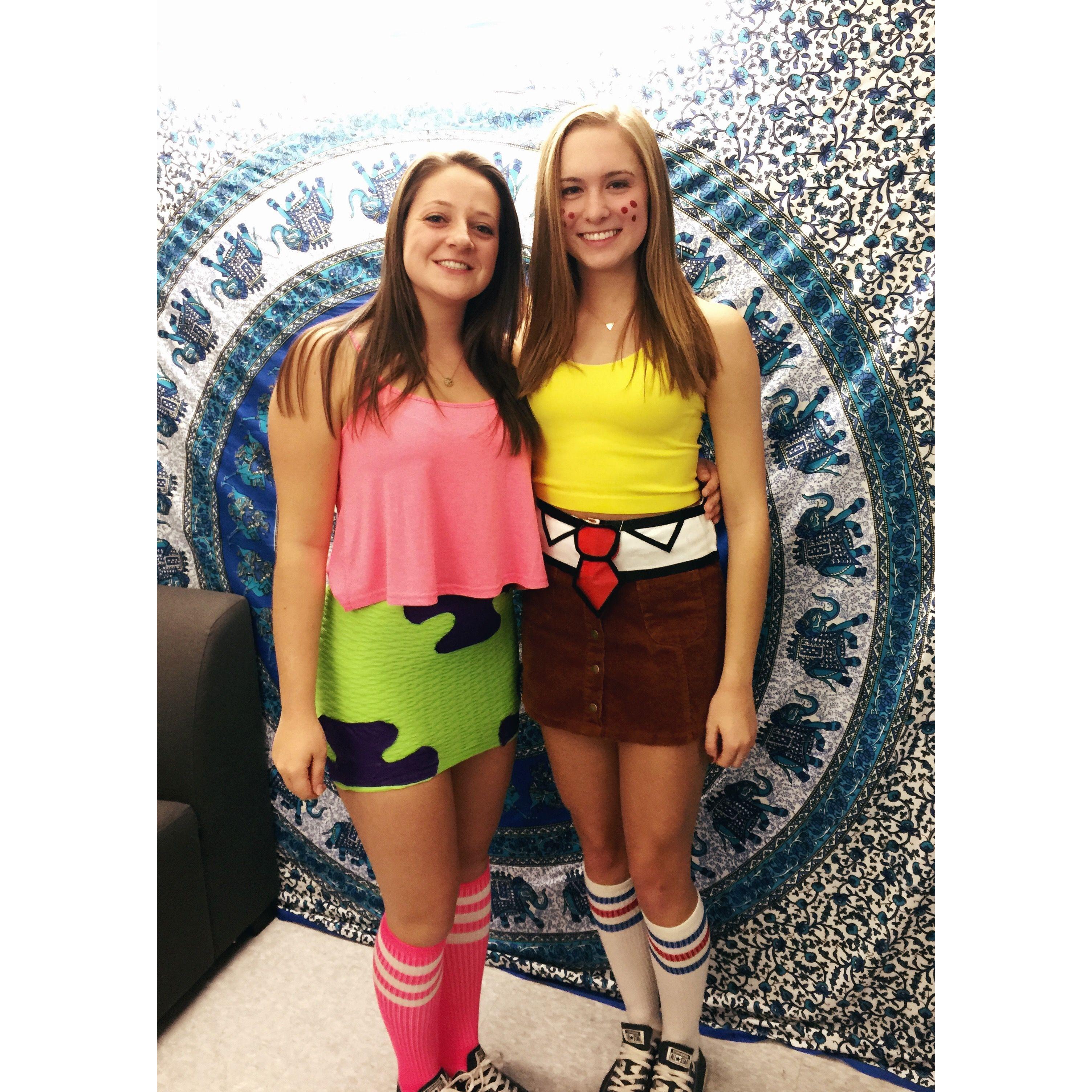 spongebob and patrick diy costume   costumes   pinterest   halloween