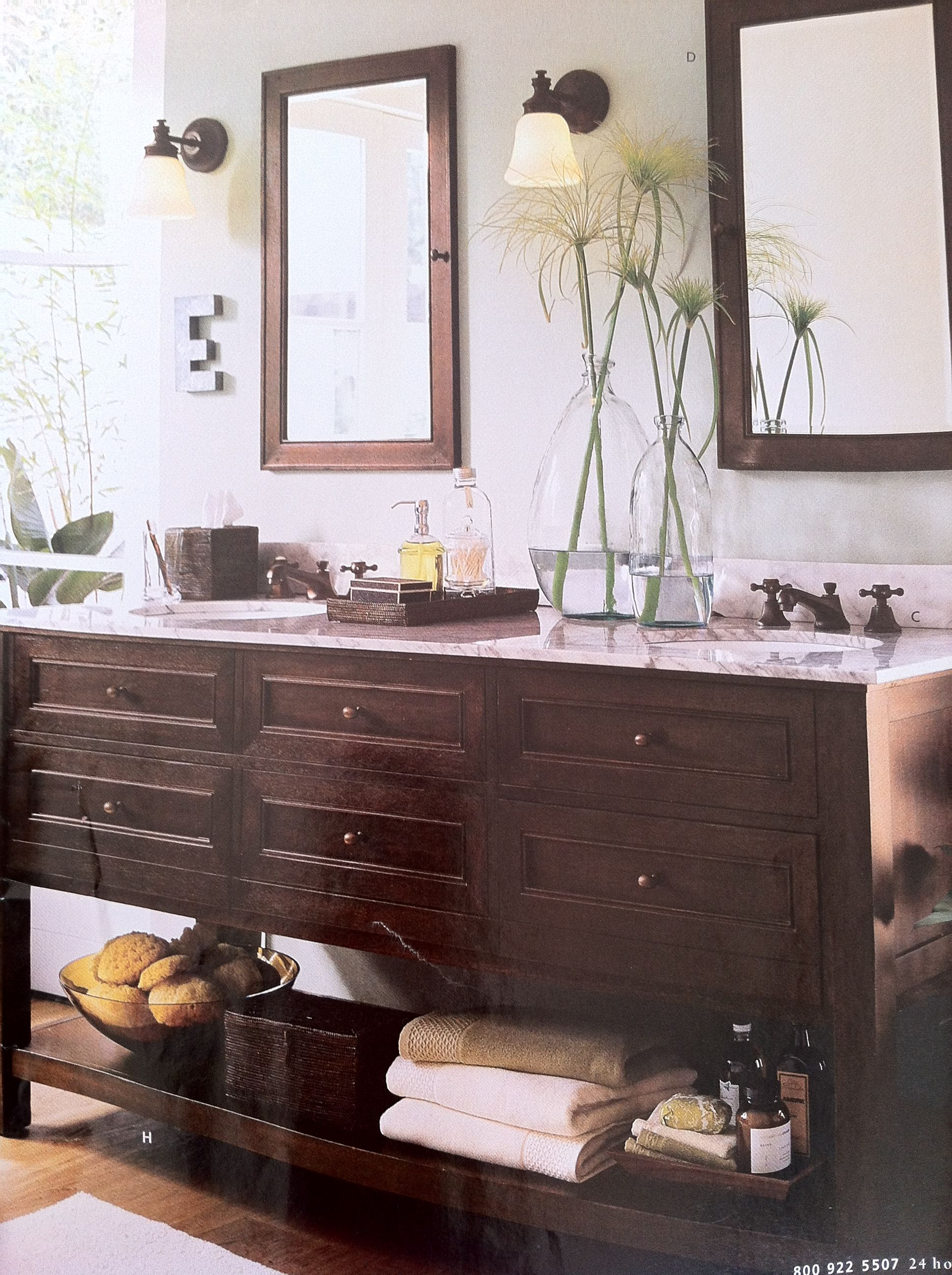 Double Sink Console Bathrooms And Powder Rooms Vanity