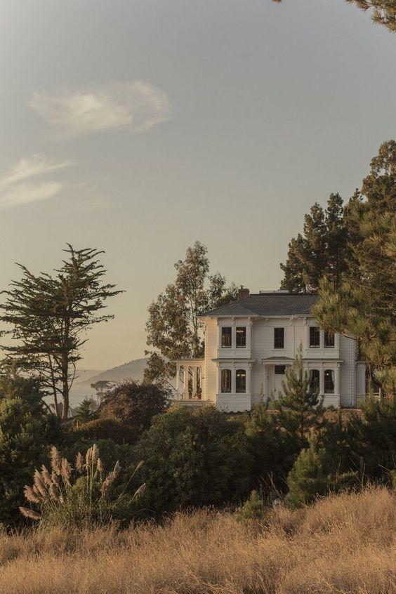 On a hill #outside #summer #architecture #fairytale #trees #dream garden fairytale