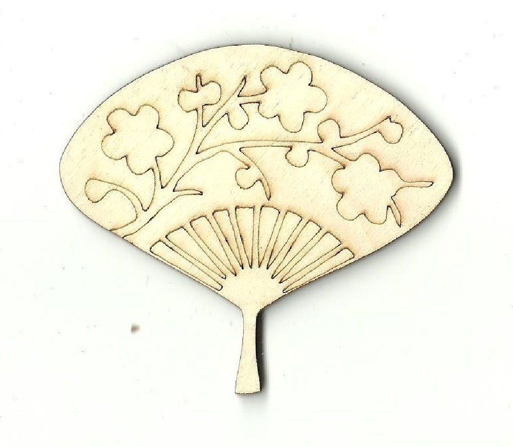 Wooden Pieces 71178: Oriental Fan - Unfinished Laser Cut Out Wood ...