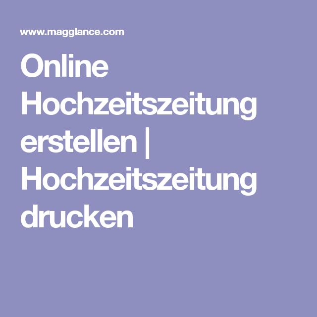 Online Hochzeitszeitung erstellen Hochzeitszeitung