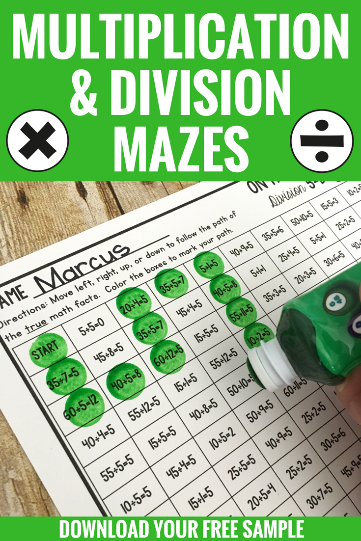 Looking for a fun way to practice multiplication and division facts ...