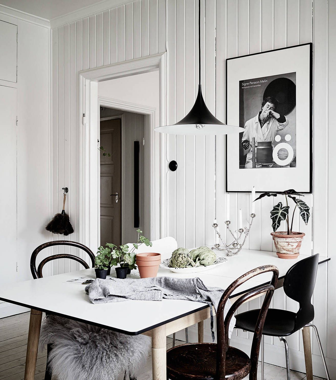 Bright Home With Lots Of Details Coco Lapine Design White Dining Room Interior Design Swedish Decor