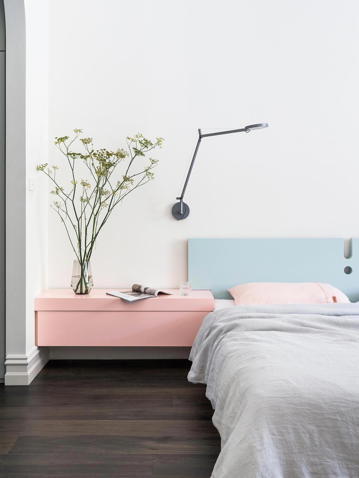 Pink And Blue Minimalist Bedroom Inspiration Pink Blue Bedroomideas Homedecorbedroomideas Home Decor Bedroom Minimalist Bedroom Home Decor Pink minimalist room decoration