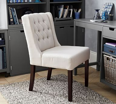 This Small Scale Tufted Upholstered Chair Is Just As Comfortable At A Desk Or Secondary Seating In The Living Room It During Meals