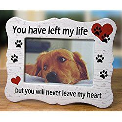dog memorial ceramic picture frame you have left my life but you