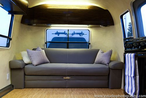Awesome Airstream Couch Doubles As Sleeper With Organic Fabric Creativecarmelina Interior Chair Design Creativecarmelinacom