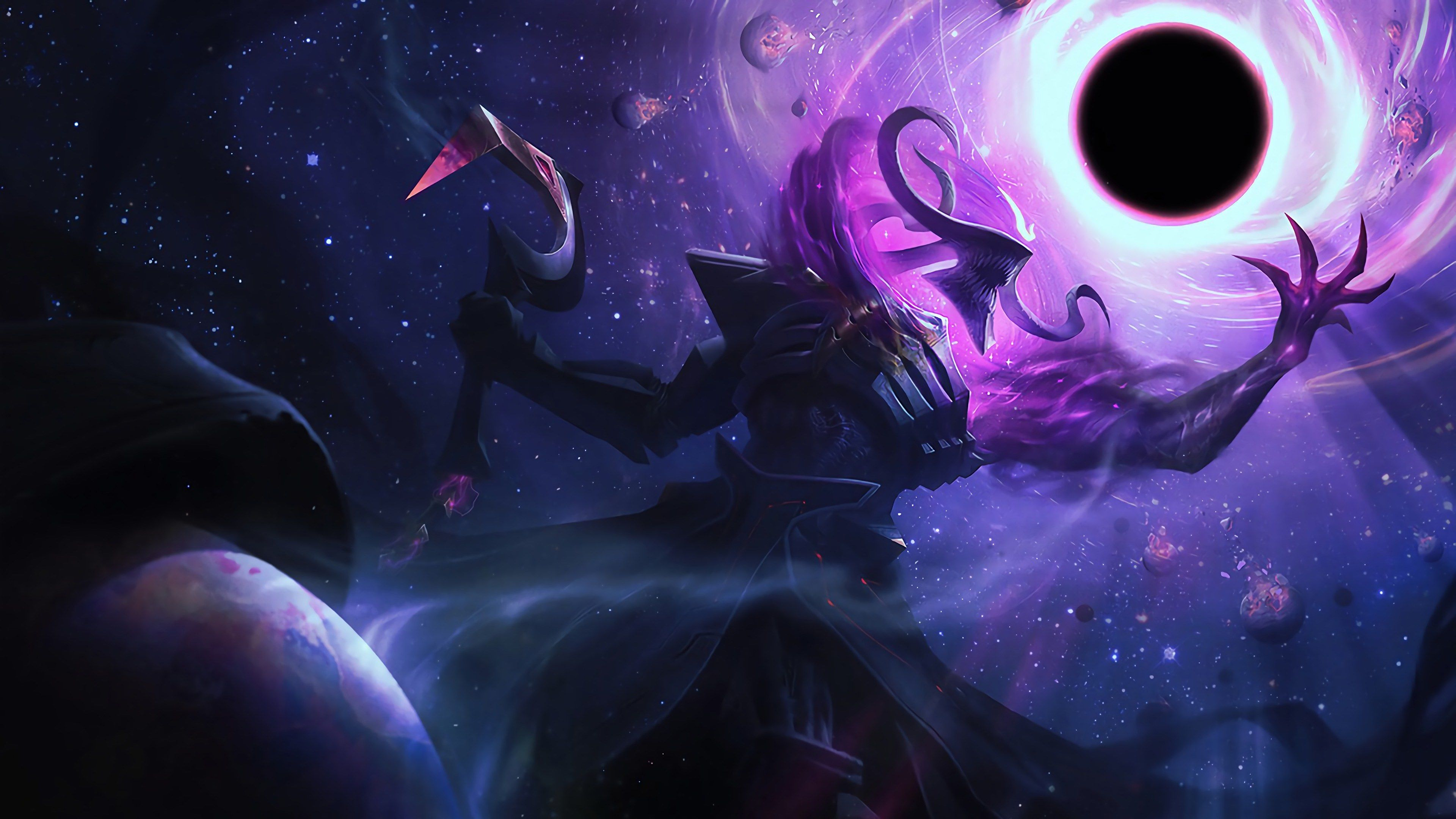 3840x2160 Dark Star Thresh 4k Wallpaper For Desktop Background Free Download League Of Legends Dark Star Art