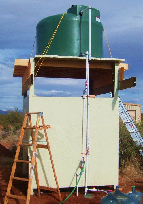 How To Build A Water Tower Or Outdoor Shower With Images