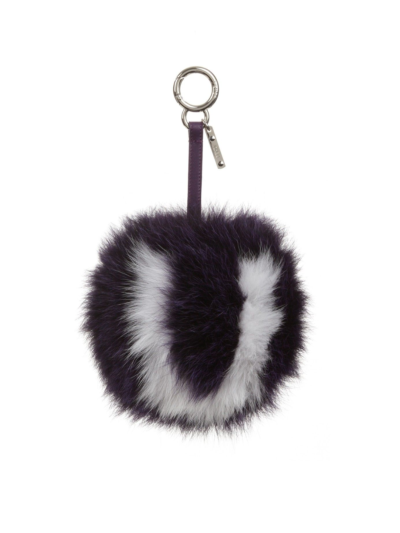 24eaeed9a8c1a U-letter pompom fox-fur bag charm | Fendi key ring | unusual wallets ...
