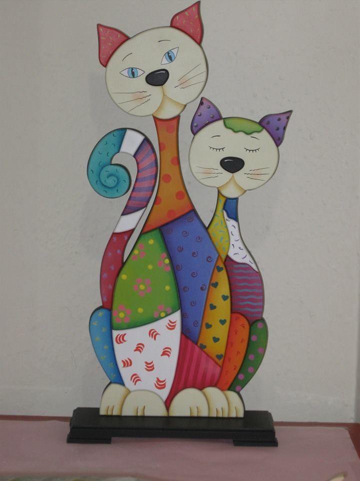 Gatos pintados en madera country buscar con google country madera pinterest pintar gato - Apliques para cuadros ...