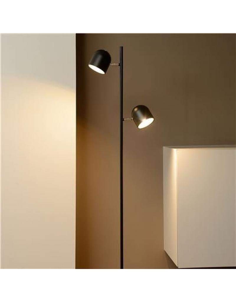 Beste Staande lamp Scandinavisch zwart, wit LED 2x5W 141cm | Vloerlamp OR-31