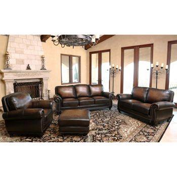 Best Venezia 4 Piece Top Grain Leather Set Leather Living 400 x 300