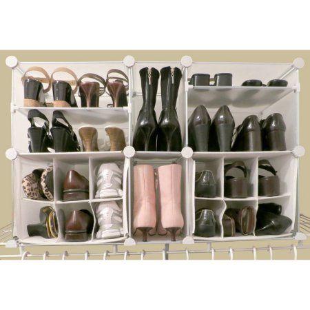 Modular Shoe Organizer Size 36 5 Inch Clear Shoe Organizer