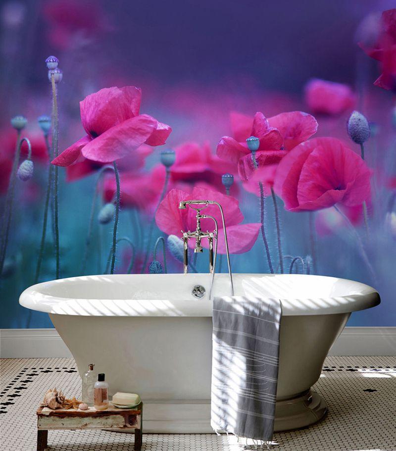 Lambris Pvc Imprime Photo Paysage Fleur Sdb Douche Baignoire Atelier Wybo Parement Mural Pvc Salle De Bain Panneau Mural Douche