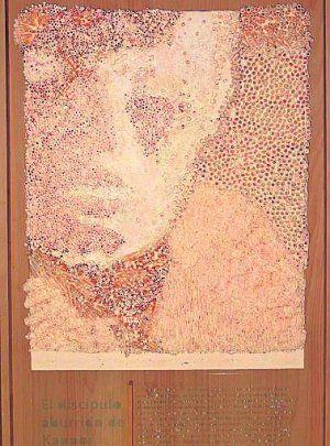 Una obra de Salva Mascarell, que desde hoy expone sus pinturas en Bellreguart (Valencia)
