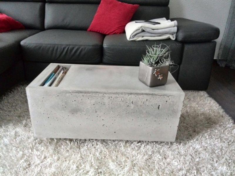 Betontisch Wohnzimmer ~ Couchtisch aus beton betontisch tisch aus beton betonmöbel in