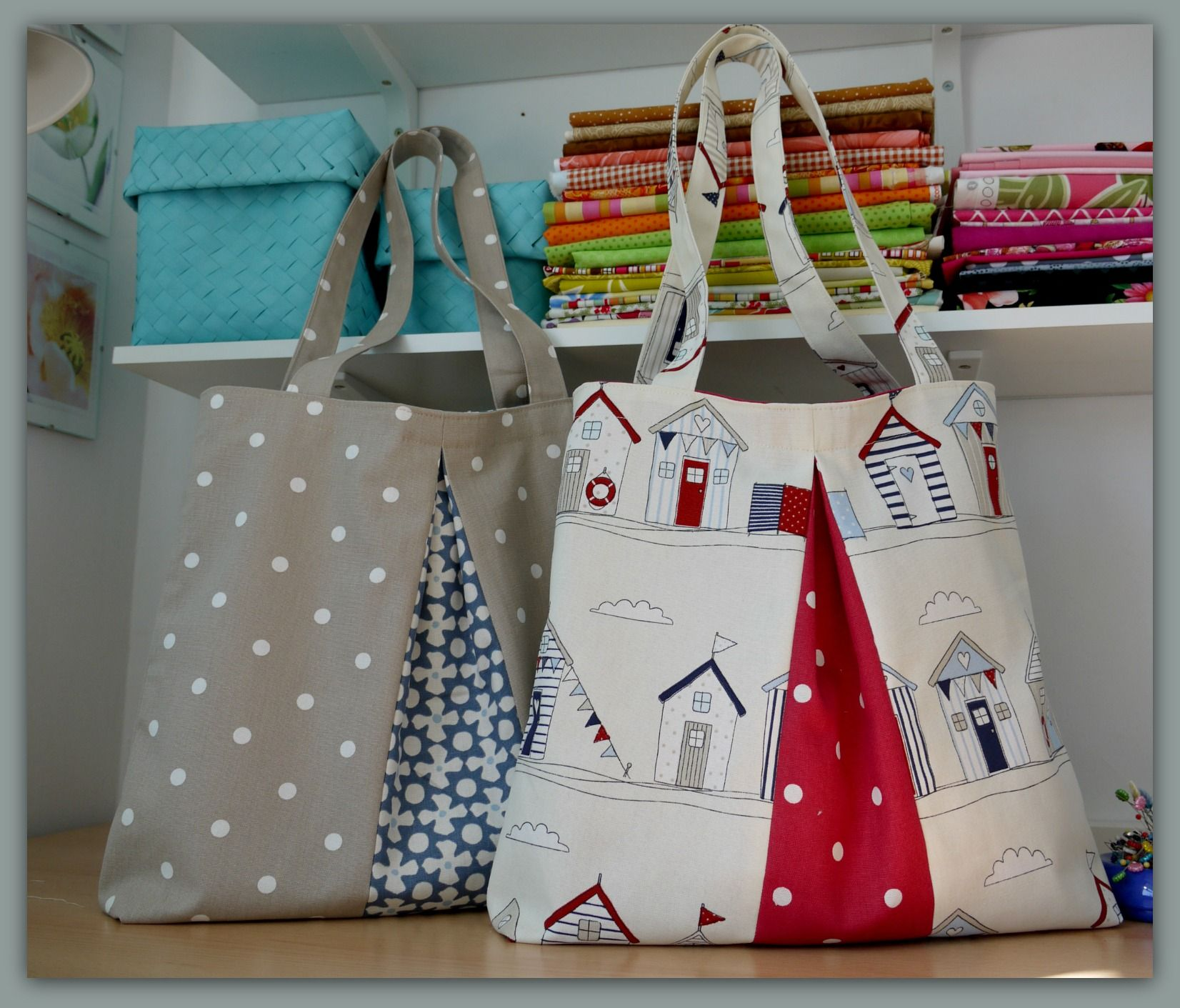 twin pleated totes, https://www.etsy.com/?show_panel=true easy to make and fully lined.