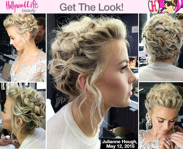 Julianne Houghs Sweet Braided Updo On Dwts Get The Look