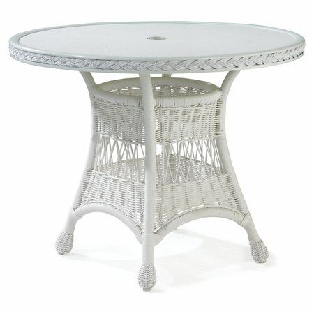 Bar Harbor Outdoor Wicker Bistro Table by wicker... | Wicker ...