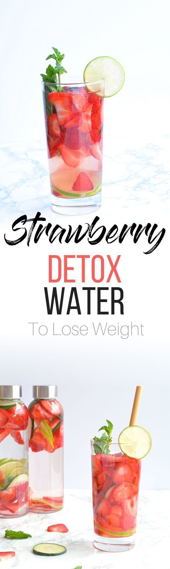 Strawberry Detox Water recipe to help you lose Wei