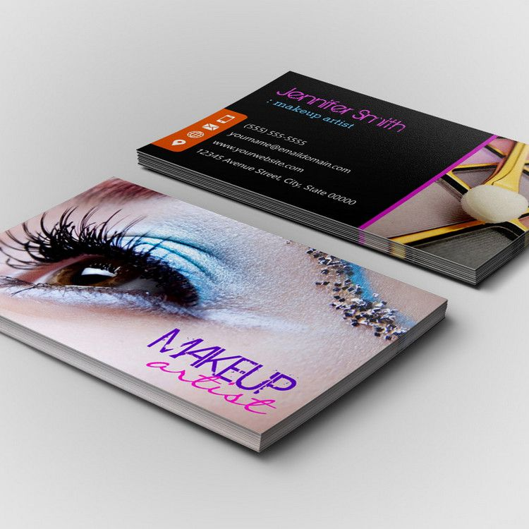 Stylish eye shadow makeup artist business card template you can stylish eye shadow makeup artist business card template you can customize this card with fbccfo Choice Image